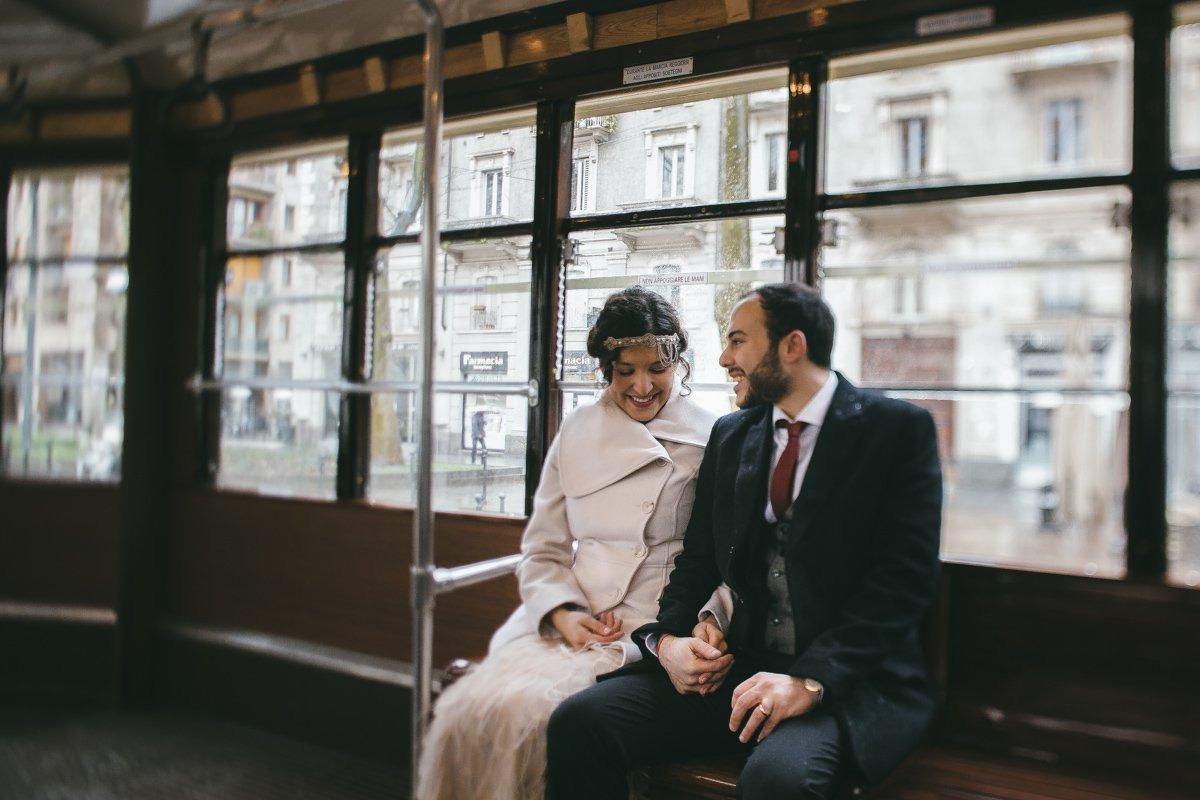 Wedding photographer in Milan. Street photography