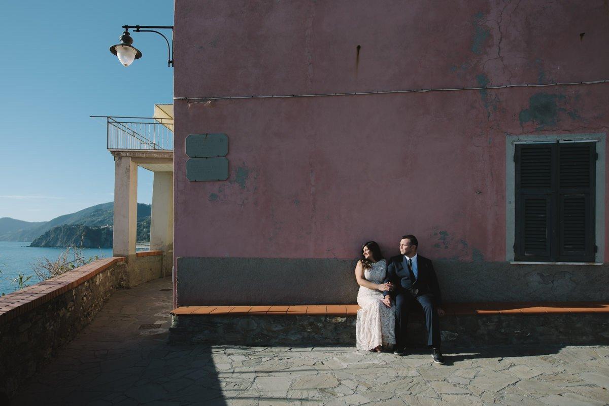 Cinque Terre wedding photographer. Elopement in Italian Riviera