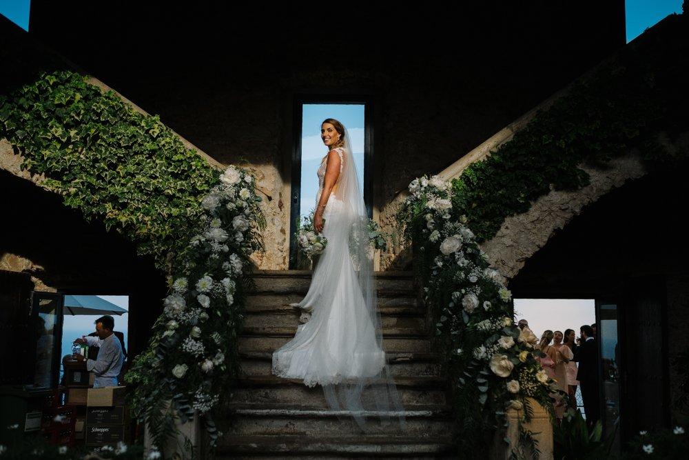 Destination Wedding photographer in Costa Brava, Spain. Bride