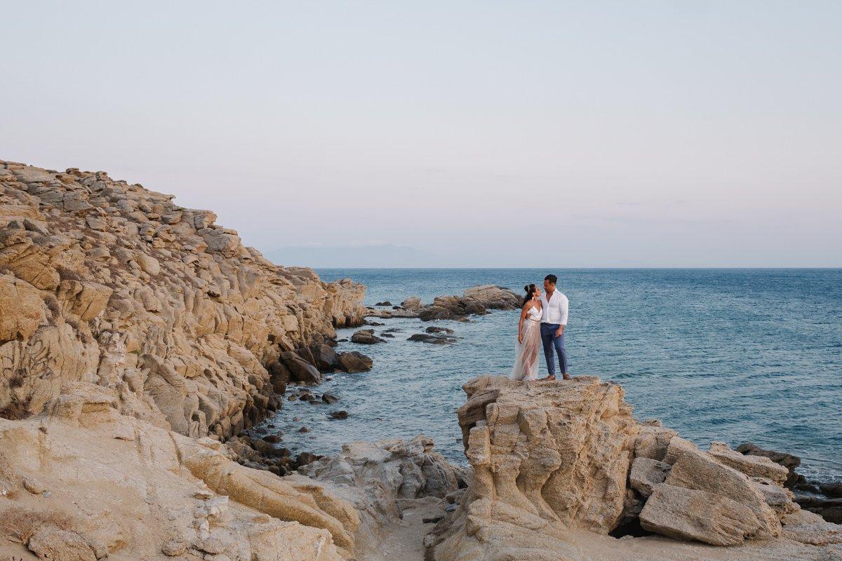 Destination Wedding photographer in Mykonos. Wedding photo & video session