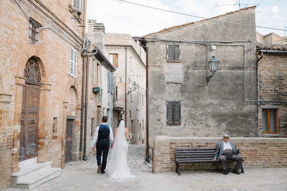 Destination Wedding photographer in Petritoli. Bride & Groom Photo - Wedding in Marche